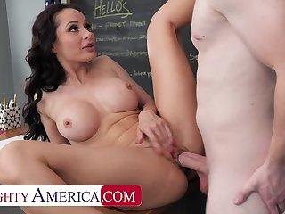 Naughty America: Hot Russian teacher, Crystal Rush, drains her student's balls on PornHD